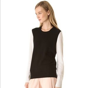 Equipment Shane Colorblock Cashmere Sweater